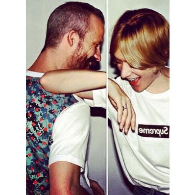 Colored Box Short Sleeve T-Shirt - 迷彩波点拼色短袖T恤