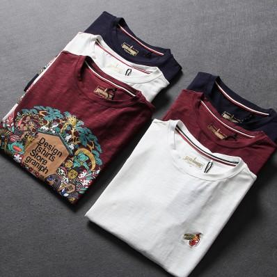 Round neck long sleeve t-shirt