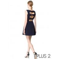Sleeveless Dress - 镂空露背性感修身无袖连衣裙