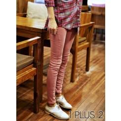 Pants - 高腰灯芯绒小脚长裤铅笔裤