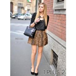 Sexy Leopard Skirts - 性感豹纹半身裙
