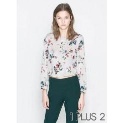 Floral Printed Shirt - 碎花印花短款套头衬衫