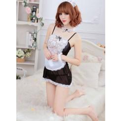 Plus Size Maid Outfit Uniform - 装女仆装制服诱惑套装