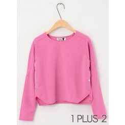 Sweater - 百搭休闲糖果色套头短款卫衣