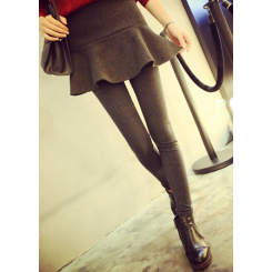 Legging - 两件鱼尾显瘦拼接打底裙裤