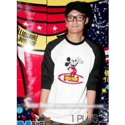 Mickey raglan sleeve T-shirt-米奇插肩袖T恤