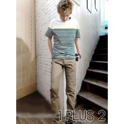 Striped T-shirt-条纹间色简纸T恤