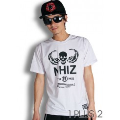 NHIZ wings skull T-shirt-NHIZ翅膀骷髅头短袖T恤