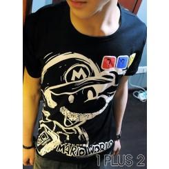 Super Mario T-shirt - 超级玛丽个性拉架弹力短袖T恤