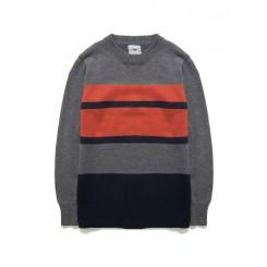 Sweater - 简约条纹套头衣