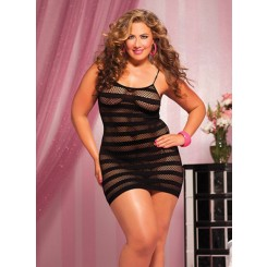 Plus Size Sexy Stripe Dress