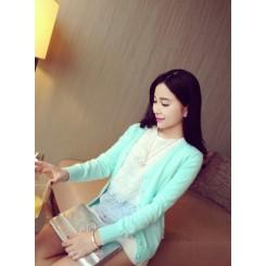 Knitted jacket - 马卡龙色针织开衫外套