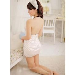 Lace Suspender Skirt
