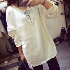 Sweater - 竹节棉卫衣
