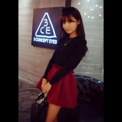 Skirt - 甜美花苞半身裙女