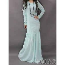 (TN-001)Chiffon Skirt - S型鱼尾显瘦拖地超长雪纺长裙