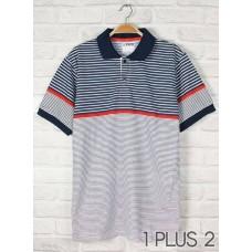 Polo Shirt - 条纹间色polo衫
