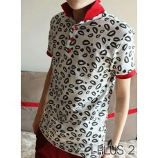 Lipstick Short-sleeved Polo Shirt - 短袖唇印polo衫