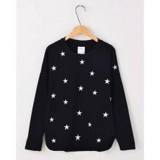 Star T-shirt - 五角星星刺绣长袖T恤