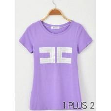 T-shirt - 百搭简洁大方修身显瘦打底t恤
