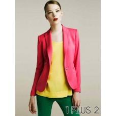 Candy-colored Suit -复古糖果色修身休闲小西装