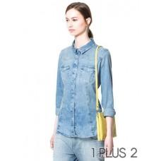 Jean Shirt - 珍珠扣水洗丹宁牛仔衬衫