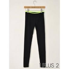 Leggings - 荧光条弹力修身打底裤