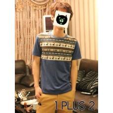 Fawn Patchwork T-shirt-小鹿拼布撞色个性短袖T恤
