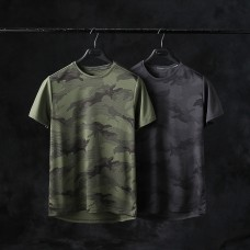 Camouflage Quick Dry T-Shirt Short Sleeve Top